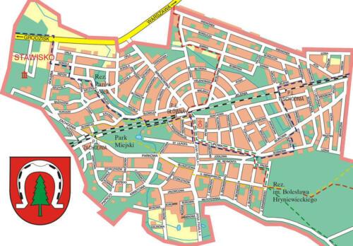 plan miasta podkowa lesna